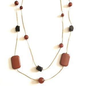Fiery Beaded Necklace